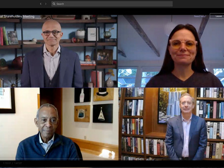 Microsoft Corporation 2020 Virtual Annual Meeting