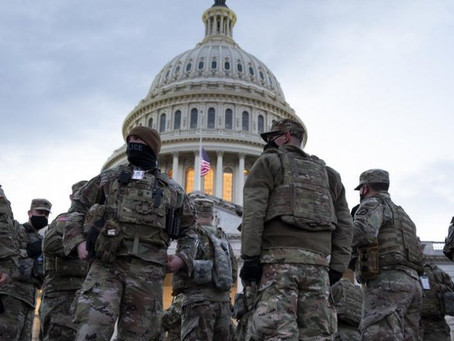 More troops at the inauguration in Washington than during the Civil War