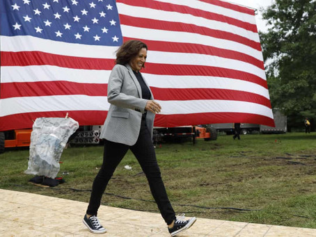 Kamala wears sneakers - a woman of action