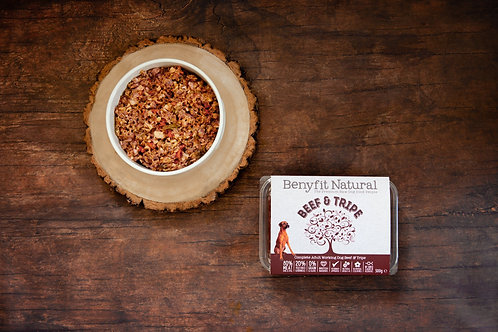 Beef & Tripe Complete Adult Raw Working Dog Food