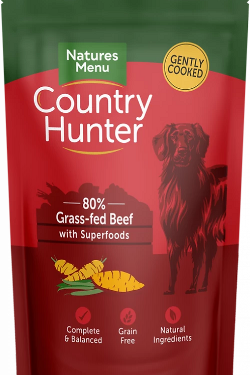 Grass Fed Beef wet food pouch 150g