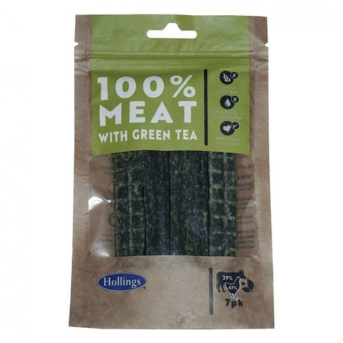 100% Meat with Green Tea