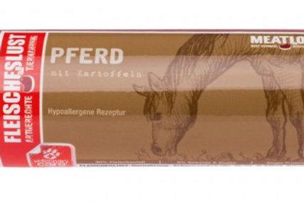 Horse with potato
