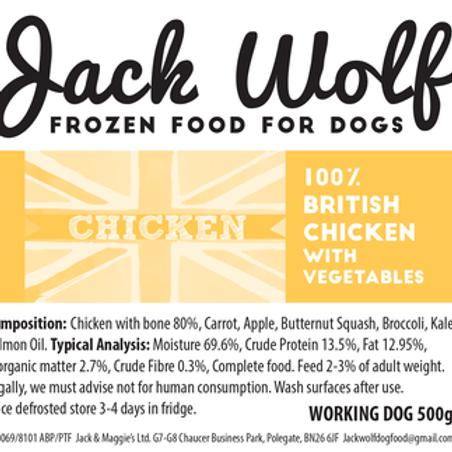 JW Working Dog Chicken 500g