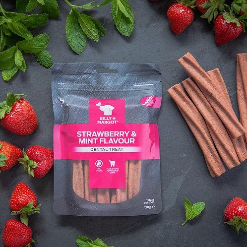 Strawberry & Mint dental sticks