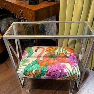 Custom console table & footstool