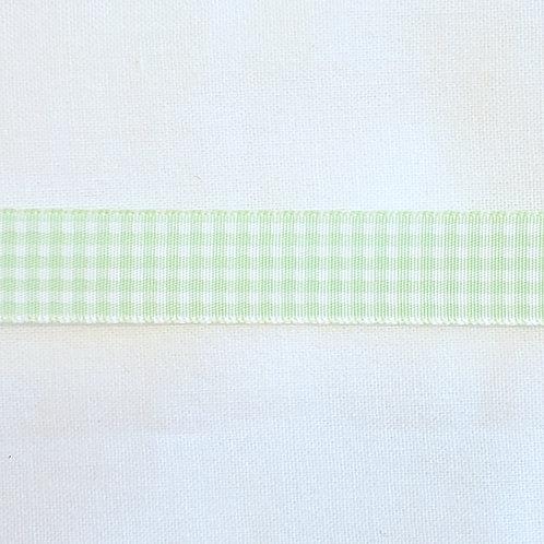 Grosgrain Ribbon - Elf Green Gingham - 1 Yard - 1  Width
