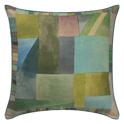 Designer's Guild Alphonse moss cushion