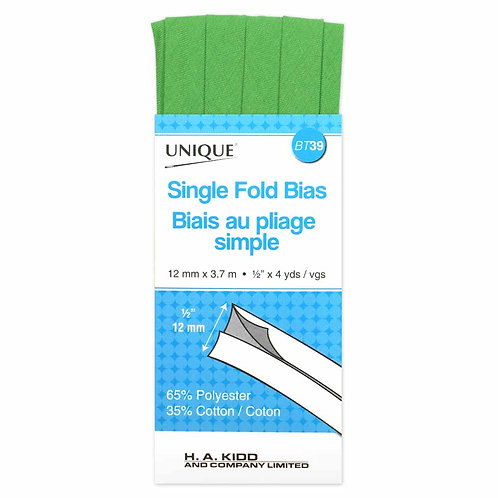 Green Single Fold Bias Tape