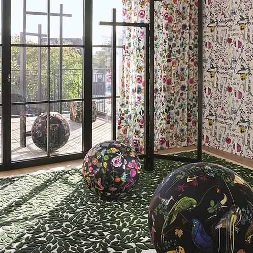 BOSQUET CARBONE ROUND RUG BY CHRISTIAN LACROIX