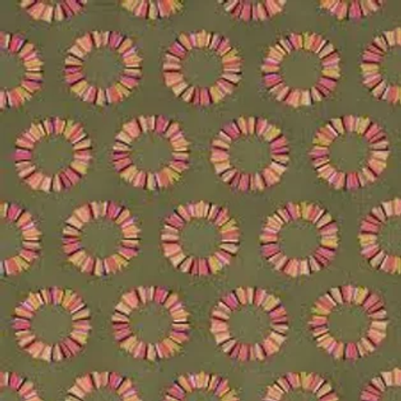 Pineapple Slices - Olive by Tula Pink