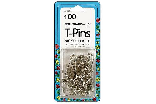 """100 T-Pins -- 1 1/4"""""""