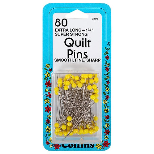80 Extra Long Quilt Pins