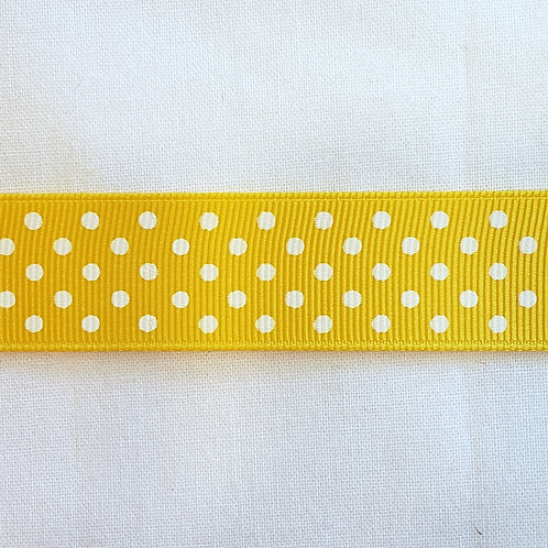 Grosgrain Ribbon - Yellow - 1 Yard - 2 Widths