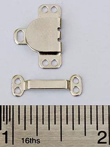 Skirt hook and bars in silver (white)