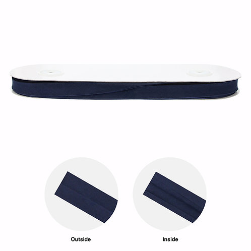 Double Fold Bias Tape 25mm navy blue