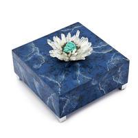 Blue Marble Agate box - square