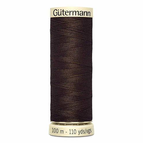 Gutermann 100m Sew All Thread - Code 587 dark brown