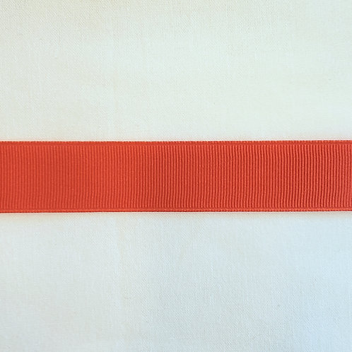 Grosgrain Ribbon - Dark Orange - 1 Yard - 5 Widths