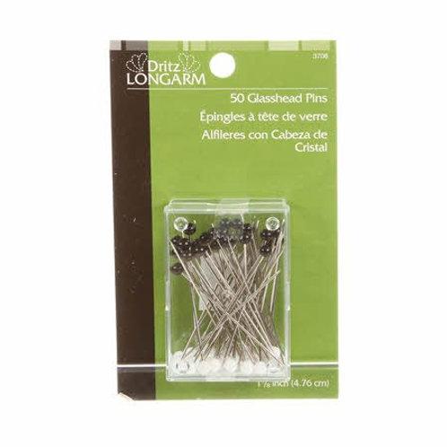 Dritz 50 Glasshead Pins