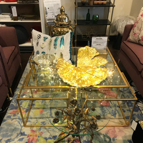 Customized 5-piece Italian coffee table