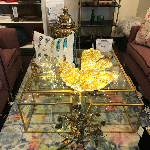 Customized 5-piece Italian coffee table
