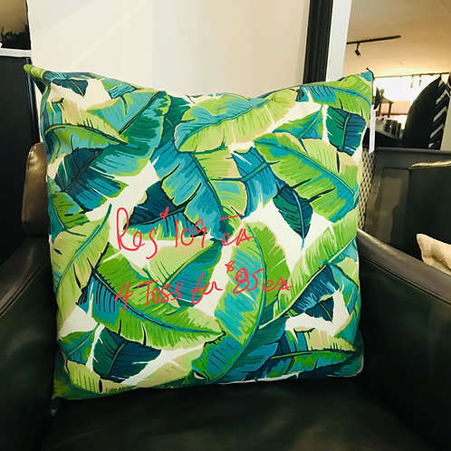 """Green Leaves -outdoor cushion -22""""x 22"""""""