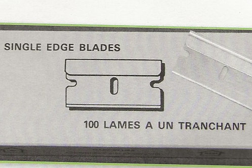 One-sided razor blades