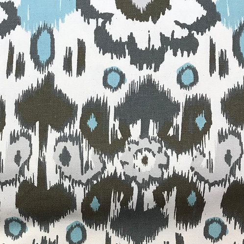 """Cotton Fabric  - Grey/ dk grey and teal 54"""" wide"""