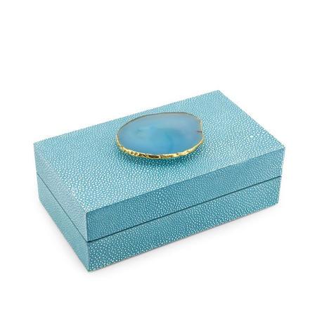 Stingray Agate box - turquoise