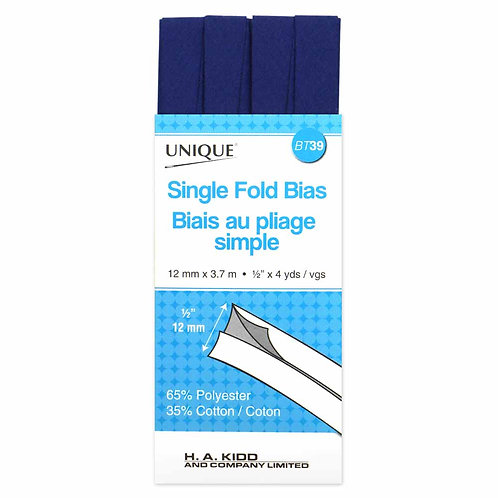 Royal Blue Single Fold Bias Tape