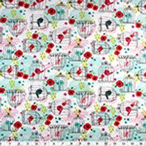 100% cotton prints...birdcages !