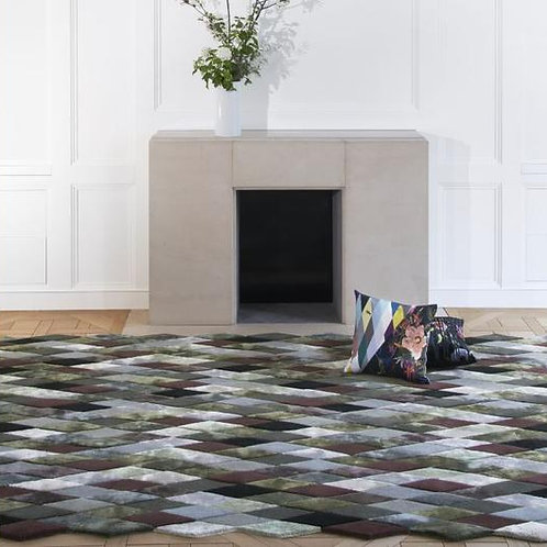 MASCARADE GRAPHITE RUG BY CHRISTIAN LACROIX