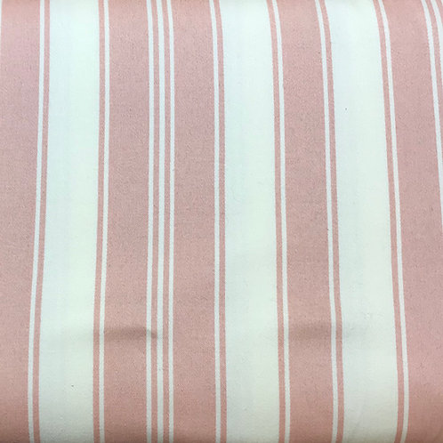"Blush and beige stripe 54"" wide"