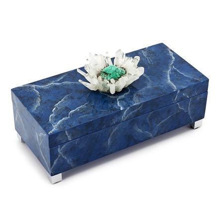Blue Marble Agate box