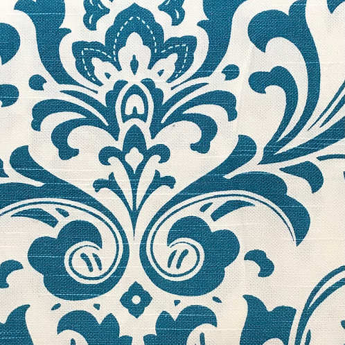 """Cotton Fabric  -  teal damask 54"""" wide"""