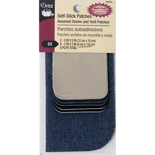 Dritz Self-Stick Denim and Twill Multi-pack Patches