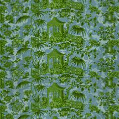 Enchanted Garden - Blue and Green