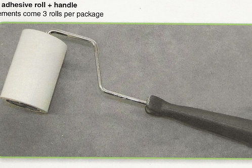 Lint Remover-adhesive roll + handle