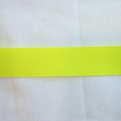 Grosgrain Ribbon - Neon Yellow - 1 Yard - 6 Widths