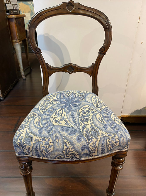 French Paisley side chairs