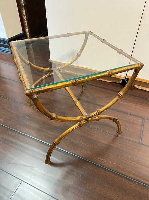 1940's Faux Bamboo Bronze side table