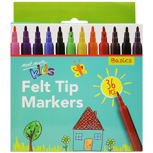 Felt Tip Markers -- 36 Pieces