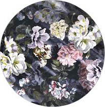 Delft Flower Noir