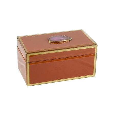 Orange Agate box - Large