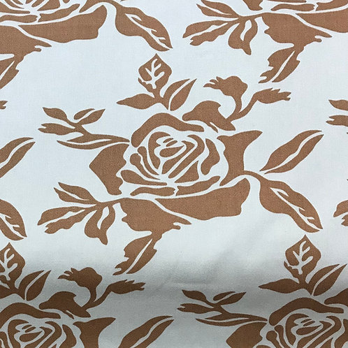 """Baby blue and brown damask -54"""" wide"""