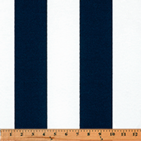 Bold Navy and white stripes- outdoor