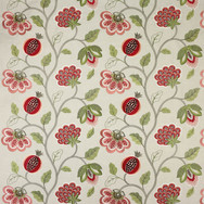 PARADISE GARDEN - RED AND LINEN
