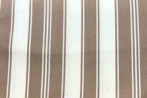 """100% cotton print tan stripe-54 """" wide"""