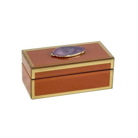 Orange Agate box - Small